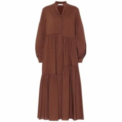 ドロシー シューマッハ Dorothee Schumacher レディース ワンピース ワンピース・ドレス Stretch-cotton poplin dress Nougat Brown