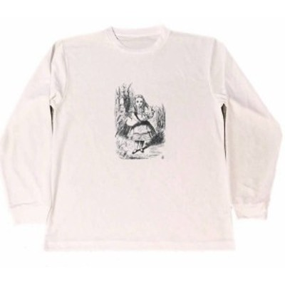 テニエル 不思議の国のアリス ドライ Tシャツ ミニブタ 子豚 グッズ イラスト ロングTシャツ ロンT