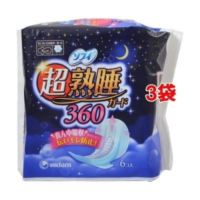 ソフィ 超熟睡ガード 羽つき 特に多い日の夜用 36cm ( 6枚入*3袋セット )/ ソフィ ( 生理用品 )