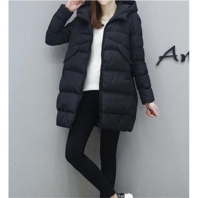 中綿ジャケットコートレディースジャケットダウンコートフード付きゆったり冬防寒服20代30代40代50代通勤アウター