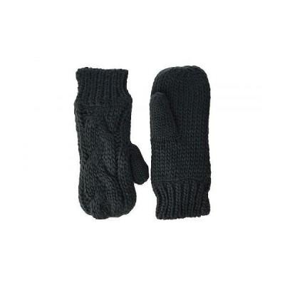 Hat Attack ハットアタック レディース 女性用 ファッション雑貨 小物 グローブ 手袋 Fisherman Cable Mitten - Charcoal