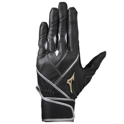 ミズノ メンズ 【グローバルエリート】ZeroSpace【両手用】[ユニセックス] 09ブラック×ブラック×シルバー L 野球 手袋 バッティング手袋 1EJEA182