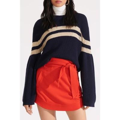 ヴェロニカ ベアード レディース スカート ボトムス Nyrie Bow Mini Skirt RED