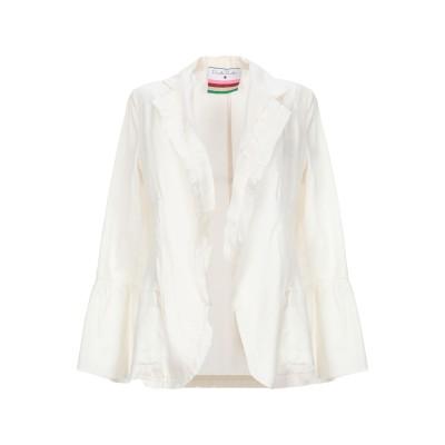 DANIELA PANCHERI テーラードジャケット アイボリー 42 コットン 100% テーラードジャケット