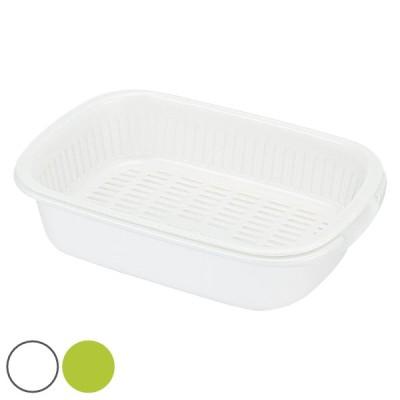 水切りトレー プラスチック製 水切りバット クッキンパル ( 水切りトレイ 水切りかご 水切りバスケット )