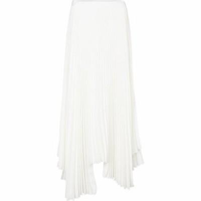プラン C Plan C レディース ロング・マキシ丈スカート プリーツスカート スカート pleated asymmetric skirt Ivory