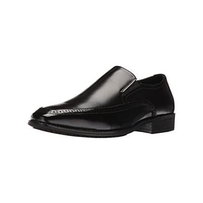 STACY ADAMS Men's Acton Slip Resistant Moc Toe Slip-on Loafer, Black, 13 M