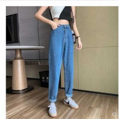 秋新作 予約商品 大きいサイズ レディース ボトムス ジーンズ ジーパン デニム パンツ ストレート 韓国ファッション 4XL 3XL 大人カジュ