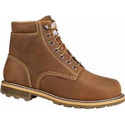 カーハート メンズ ブーツ・レインブーツ シューズ Carhartt Men's 6'' Waterproof Work Boots Brown