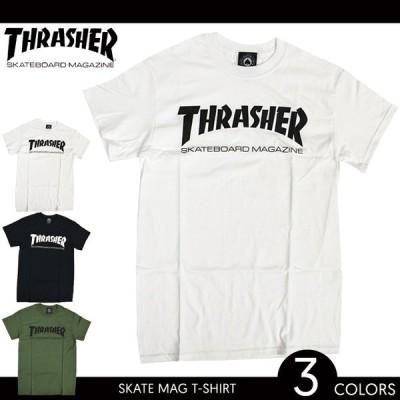 THRASHER スラッシャー SKATE MAG LOGO T-SHIRT Tシャツ 半袖 Tee マグロゴ 単品購入の場合はネコポス便発送 バーゲン