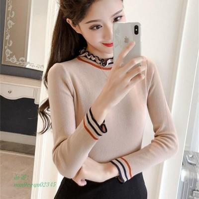 韓国 カジュアル ニット 女性 セーター ストライプ 女性セーターや プルオーバー ニット 長袖 セーター 女性 特大セーター AliExpress グループ上 レディー