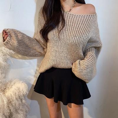 ✨CHOPER✨[韓国ファッション]送料無料  ルーズなフィット感でヨリ清純パフニット