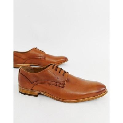 エイソス メンズ ドレスシューズ シューズ ASOS DESIGN lace up shoes in tan leather Tan