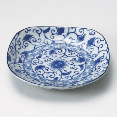 業務用食器 藍彩四角5.0皿 15.2×15.2×3.2cm 丸皿