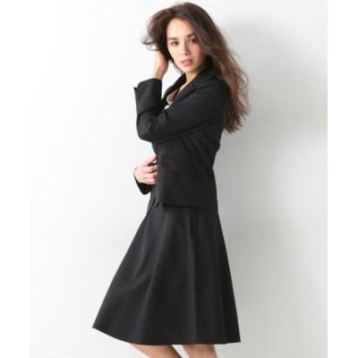 nissen ニッセン 洗える令嬢スカートスーツ(パイピングテーラードジャケット+フレアスカート) レディース
