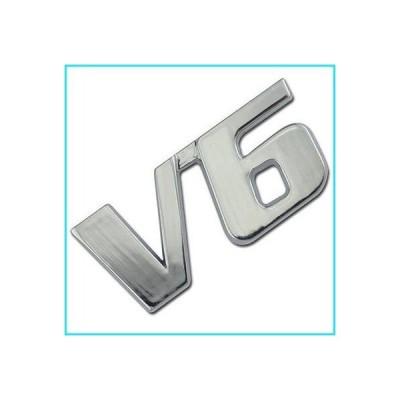 Chrome Metal V6 Liter Engine Race Motor Swap Emblem Badge For Trunk Hood Door for Land Rover Freelander【並行輸入品】