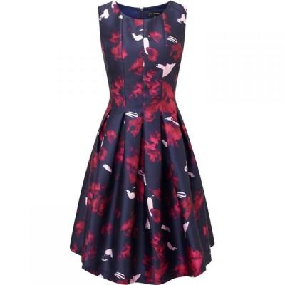 ジュームズ レイクランド James Lakeland レディース パーティードレス ノースリーブ ワンピース・ドレス Print Sleeveless Dress Navy