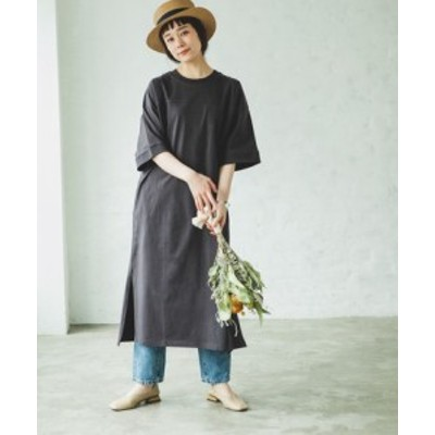ビッグシルエット 半袖 ワンピース カットソー ヘビーウエイト || レディースアパレル ドレス