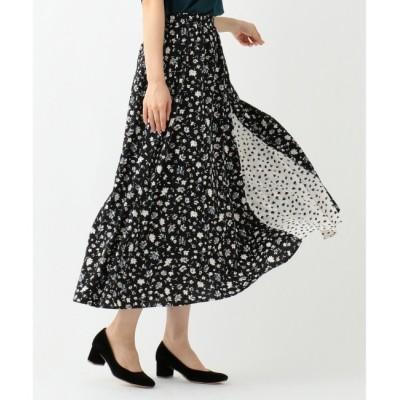 【エニィスィス/any SiS】 【洗える】MIX pattern プリント スカート