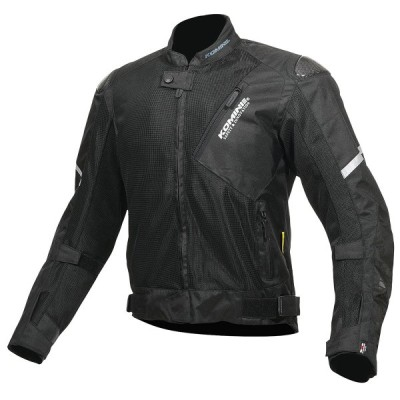 コミネ (Komine) バイク用 ジャケット Jacket JK-137 カーボンプロテクトメッシュジャケット ブラック 黒 3XLサイズ 07-137/BK/3XL