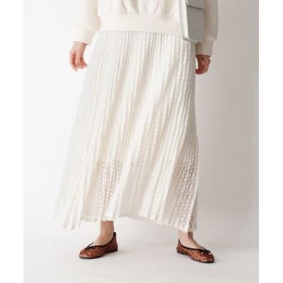 OPAQUE.CLIP / レースプリーツスカート WOMEN スカート > スカート