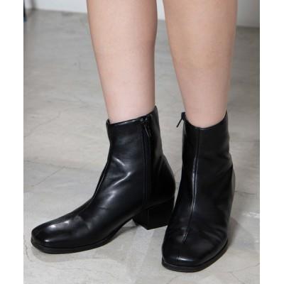 WEGO / WEGO/スクエアトゥストレッチショートブーツ WOMEN シューズ > ブーツ