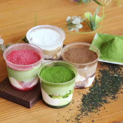 【大人気!】濃厚茶葉のティラミス4種食べ比べセット (抹茶・ほうじ茶・和紅茶レモン・ミックスベリー抹茶味)(4種 各1個)