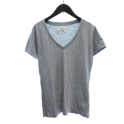 【中古】アングリッド UNGRID カットソー Tシャツ Vネック 半袖 F グレー /AU レディース