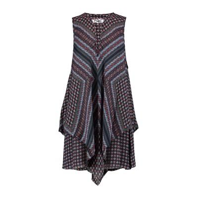 DEREK LAM 10 CROSBY ミニワンピース&ドレス ダークブルー 2 シルク 100% ミニワンピース&ドレス