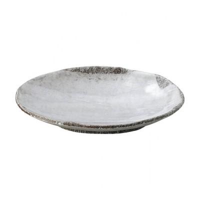 白刷毛目 8号小判皿 和食器 楕円皿 業務用 約24cm 和食 和風 天ぷら 揚げ物 焼き物 パスタ