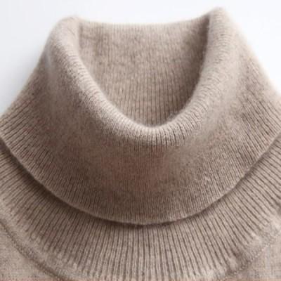 レディースプルオーバーニット ソフトカシミヤ弾性セーター プルオーバー 女性の秋の冬タートルネック 女性ウールニットブランド セーター