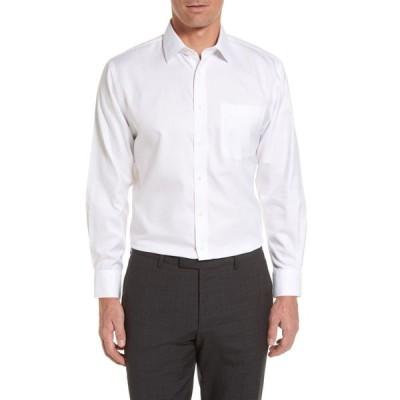 ノードストローム NORDSTROM MEN'S SHOP メンズ シャツ トップス Smartcare' Traditional Fit Herringbone Dress Shirt White