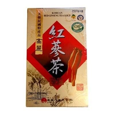 【当店おすすめ】高麗紅参茶GOLD(3g×100包・粉末状) 健康茶 伝統茶 韓国お茶 韓国飲み物 韓国食品 風邪予防対策 オススメ