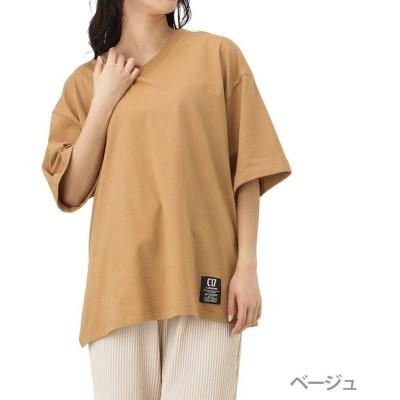 C17 シーセブンティーン Tシャツ 半袖 Vネック 半袖Tシャツ レディース 無地 ベージュ ネコポス対応