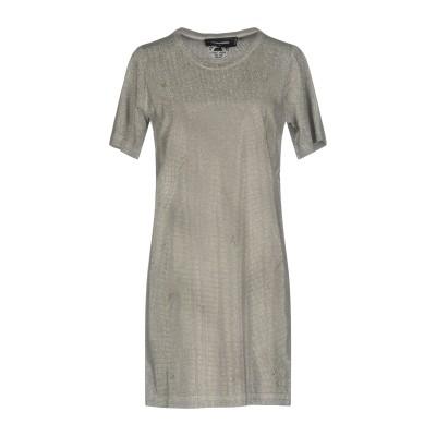 ディースクエアード DSQUARED2 ミニワンピース&ドレス グレー XS コットン 100% ミニワンピース&ドレス