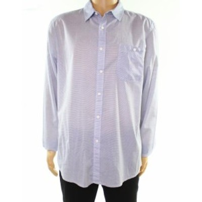 American  ファッション アウター American Rag NEW Blue Mens Size XL Striped Front Pocket Button Up Shirt