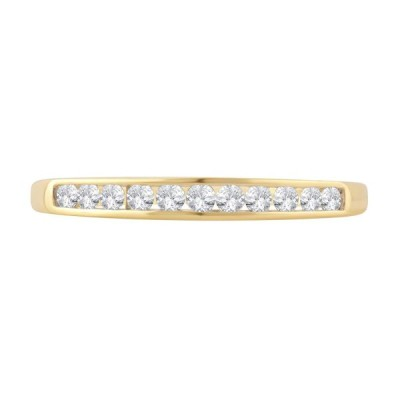 1/4 Cttw Round Diamond Channel Band in 10K Yellow Gold