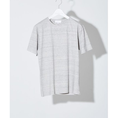 ABAHOUSE/アバハウス 【ノンストレス】圧着クルーネック 半袖Tシャツ グレー 44