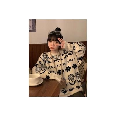【送料無料】秋冬 韓国風 ルース オーバーサイズ 風 ファッション 何でも似合う 丸襟 フラ | 346770_A64216-3809007