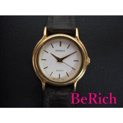 HORNET レディース腕時計 562480 クォーツ 白×茶 SS×レザー【中古】ht859