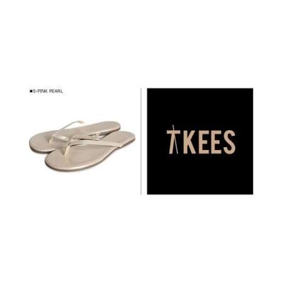 (Tkees/ティキーズ)ティキーズ Tkees サンダル グリッターズ ビーチサンダル レディース レザー GLITTERS グレー ゴールド シルバー ピンク/レディース ピンク