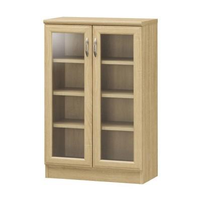 キャビネット サイドボード 戸棚 本棚 食器棚 ホノボーラ 幅57cm 高さ88cm ガラスキャビネット 収納棚 棚 カップボード おしゃれ