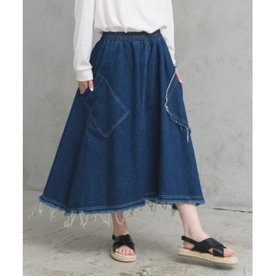 Auntie Rosa / ダメージデニムスカート WOMEN スカート > デニムスカート