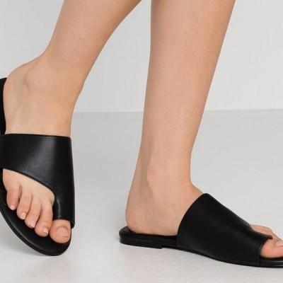 レディース サンダル TOE LOOP FLAT - T-bar sandals - black