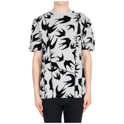メンズ Tシャツ アレキサンダーマックイーン MCQ ALEXANDER MCQUEEN MEN'S SHORT SLEEVE T-SHIRT CREW NECKLINE JUMPER NEW GR 72F