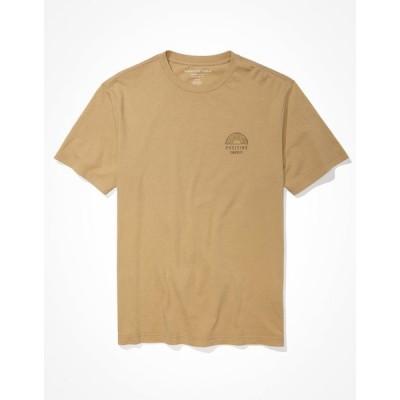 アメリカンイーグル Tシャツ メンズ American Eagle AE Super Soft Positive Graphic T-Shirt Tan