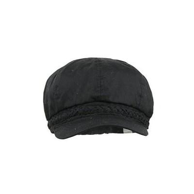 デザイナー 帽子 ハット キャップ デザインer 8148 レディース ブラック Twill Braided Trim Hat Ball Cap O/S BHFO