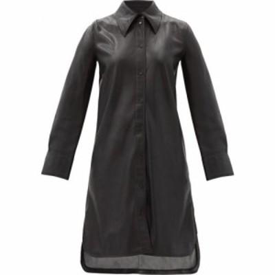 スタンドスタジオ Stand Studio レディース ワンピース シャツワンピース ワンピース・ドレス Remi faux-leather shirt dress Black