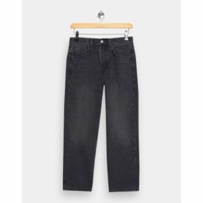 トップショップ Topshop レディース ジーンズ・デニム ボトムス・パンツ Editor straight leg jeans in washed black ウォッシュブラック