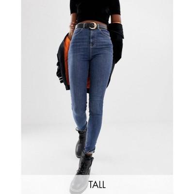 コルージョン Collusion レディース ジーンズ・デニム ボトムス・パンツ Tall X001 Skinny Jeans In Mid Wash Blue ウォッシュブルー